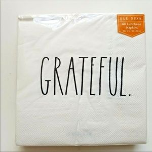 Rae Dunn Grateful 40 Luncheon Napkins 13X13in